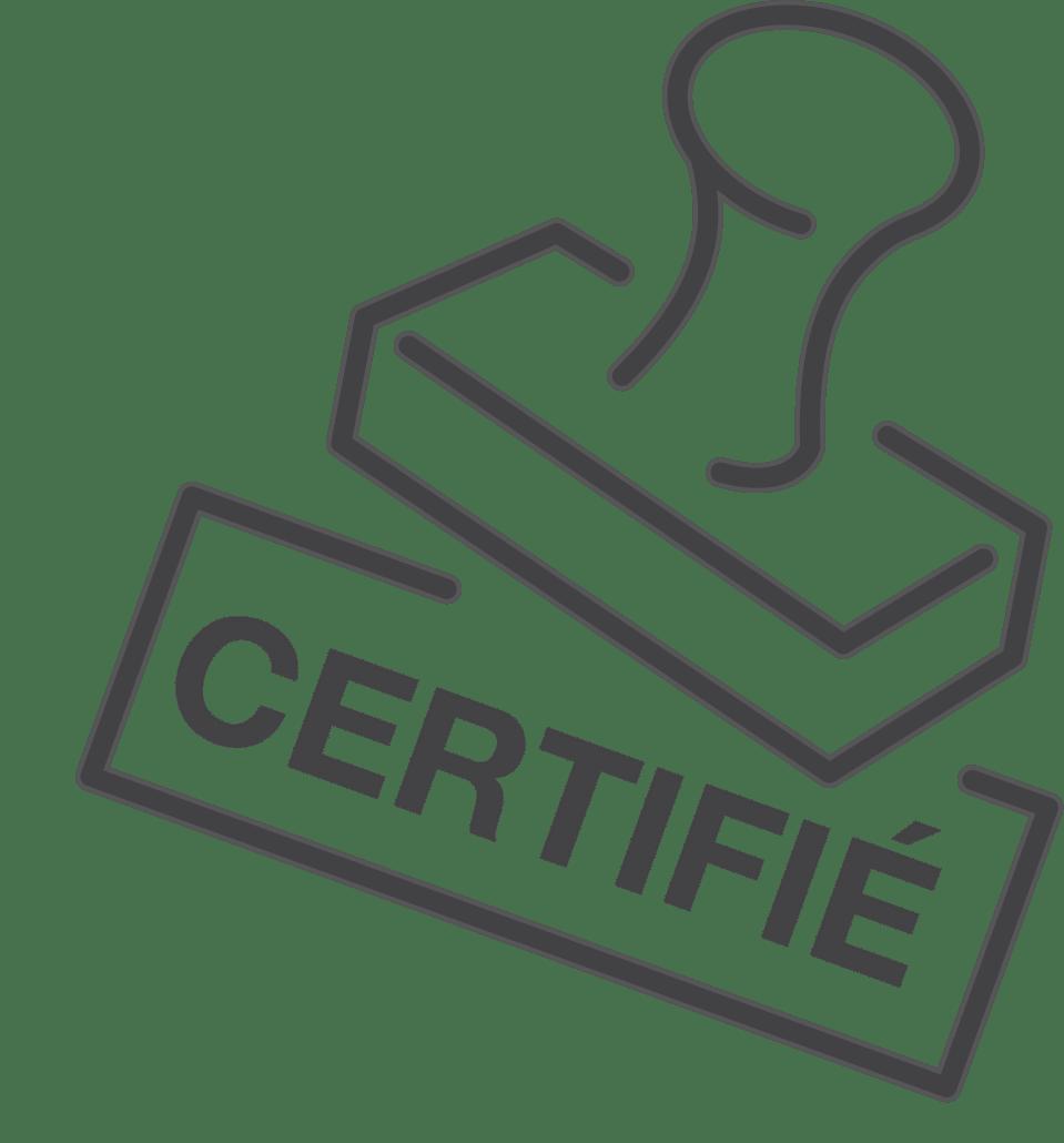 """Icône représentant un tampon """"certifié"""""""